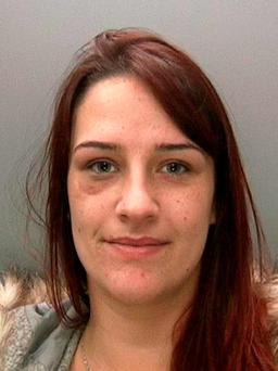 West Midlands Police undated handout photo of Danielle Parsons, 23, was jailed for five years at Birmingham Crown Court after admitting causing the death of her passenger two-year-old toddler daughter Esmee O'Reilly by dangerous driving, after taking cocaine just hours before getting behind the wheel