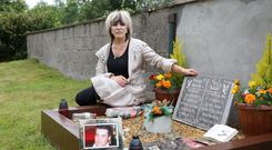 Christina Donnelly mother of Brendan who was killed by a drunk driver in a car accident at Castlemarteyr, Co. Cork.