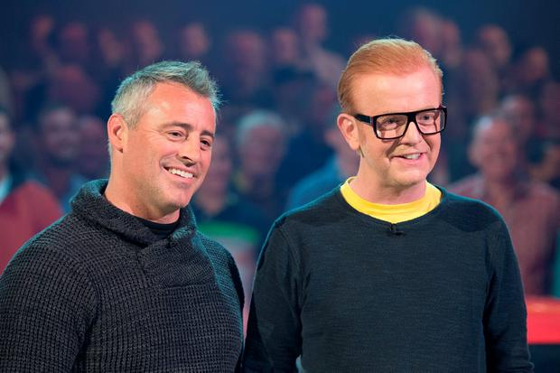 Matt LeBlanc and Chris Evans on the set of 'Top Gear'