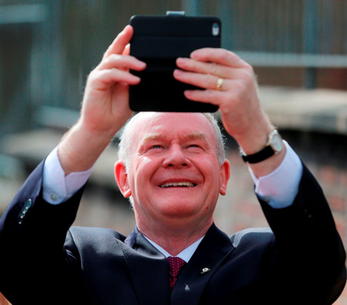 Sinn Féin deputy First Minister Martin McGuinness is to attend his first Northern Ireland soccer match during the European Championships Photo: PA