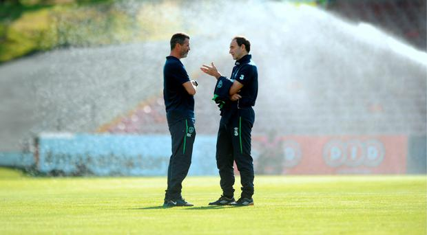 Martin O'Neill and Roy Keane have had plenty of time to iron out the little details for the European Championships Picture: AFP/Getty