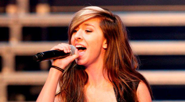 Christina Grimmie performs as part of