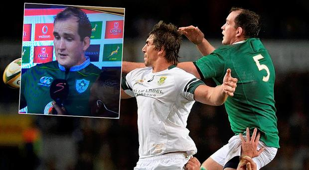 Devin Toner dedicated his man of the match award to his late father