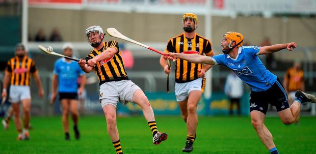 Lester Ryan of Kilkenny in action against Oisin Gough of Dublin