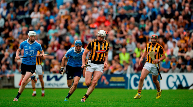 Michael Fennelly of Kilkenny in action against Daire Plunkett of Dublin