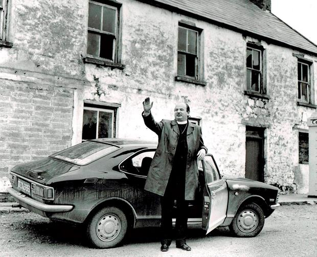 Bishop Eamon Casey outside his family home in Firies, near Killarney, in 1969 Photo: Donal MacMonagle