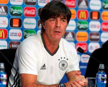 Germany's head coach Joachim Loew. Photo: Reuters/UEFA