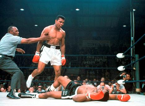 The greatest: Ali's first-round KO vs Liston in 1965 Photo: Associated Press