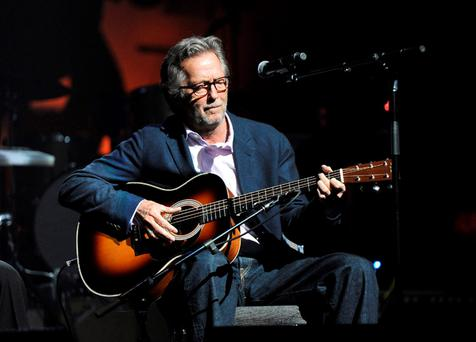 Struggle: Eric Clapton is suffering from nerve damage Photo: Kevin Mazur