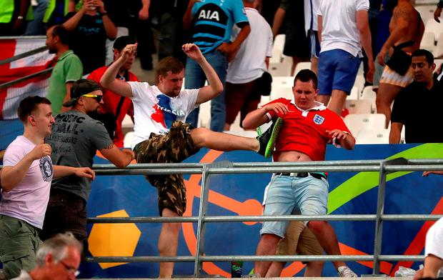Tempers flare between Russia and England fans