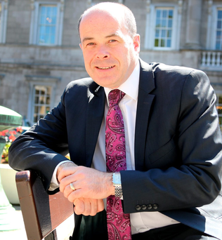 The recently appointed Minister for Communications Denis Naughten at Leinster House. Mr Naughten, an Independent, has overarching responsibility for RTE Photo: Tom Burke