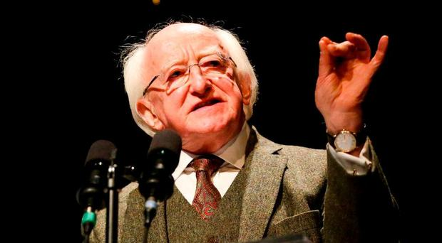 President Michael D Higgins is set to travel to France for the Euros Photo: Maxwell