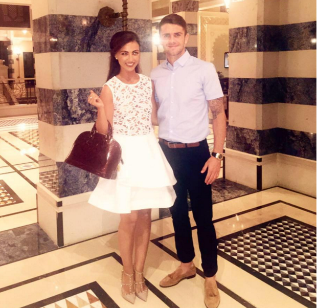 Kerrie Harris and fiancé Robbie Brady. Photo: Facebook