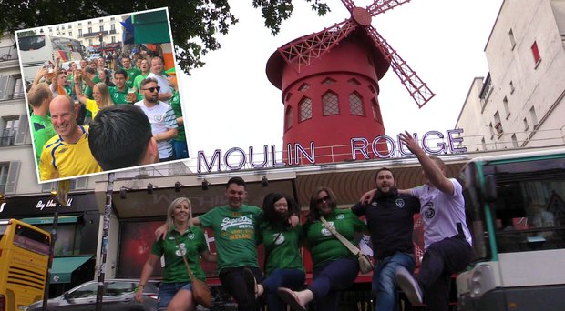 Scenes at Paris' famous Moulin Rouge district. Photo: Mark McConville