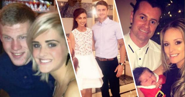 Erin Connor and Robbie Brady, Kayleah and Shane Long, Becky Gibson and Shay Given