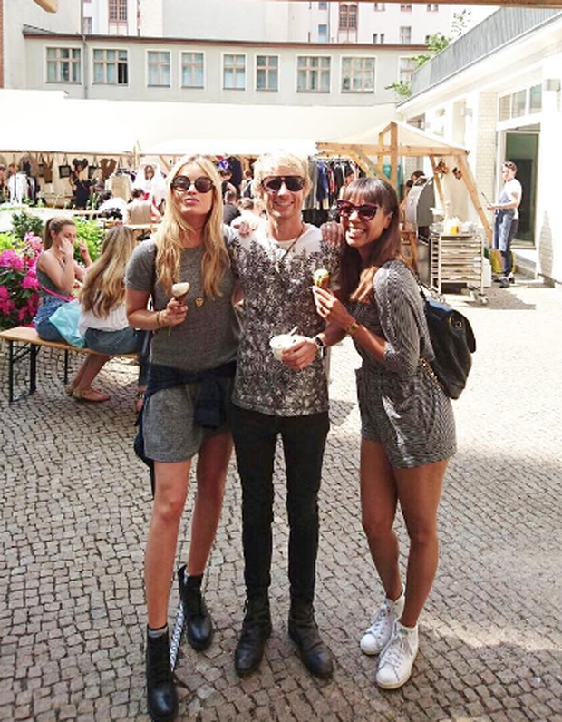 Laura Whitmore with pals Dom Howard and Alexandra Maurer. Photo: Laura Whitmore / Instagram