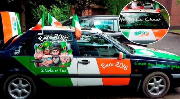 Niall Keogh and Niall Mallinn have driven to France in this 1994 volvo