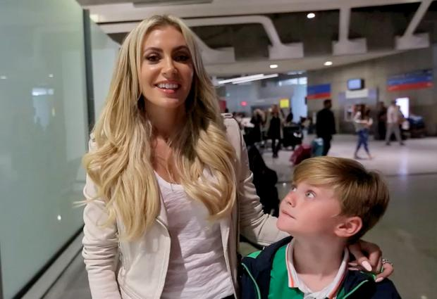 Claudine and Robert Junior at Charles de Gaulle airport ahead of Euro 2016