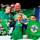 NICE, FRANCE - JUNE 12: Northern Ireland fans enjoy the atmosphere prior to the UEFA EURO 2016 Group C match between Poland and Northern Ireland at Allianz Riviera Stadium on June 12, 2016 in Nice, France. (Photo by Laurence Griffiths/Getty Images)