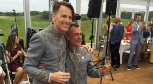 Irish designer Don O'Neill has wed his longtime partner Pascal Guillermie with a romantic celebration in Kerry. Photo: Bairbre Power / Twitter