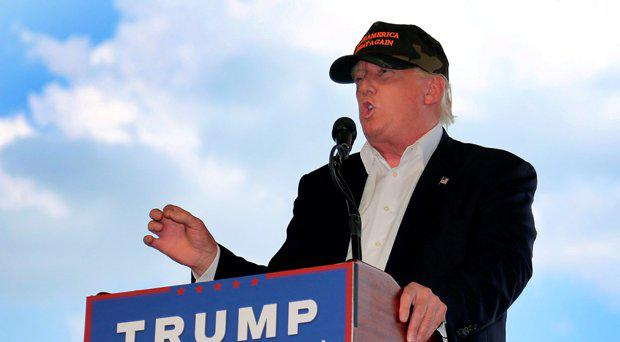 Republican U.S. presidential candidate Donald Trump speaks at a rally in Pittsburgh
