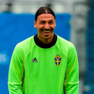 Ibrahimovic is Sweden's talisman - he scored 11 goals during qualification, three of them in the play-off double-header victory over Denmark. Photo: David Maher/Sportsfile