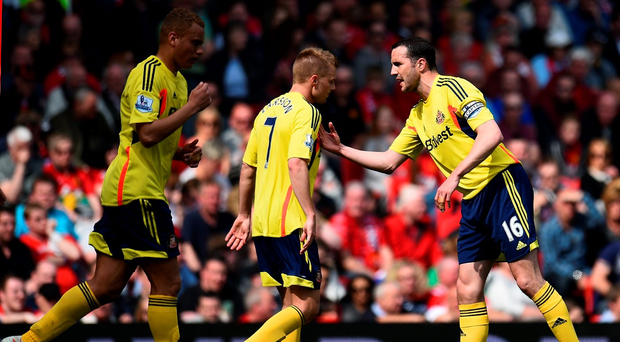 Sweden's Seb Larsson and Ireland's John O'Shea have been team-mates at Sunderland for the last five years. Photo: Shaun Botterill/Getty Images