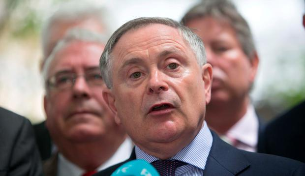 'When Howlin lambasts this new Coalition, he must be careful in his choice of issue and the words he uses. Just six weeks ago, he was in Cabinet.' Photo: Collins