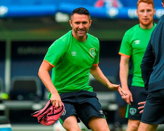 Robbie Keane at Republic of Ireland squad training at the Stade de France. Photo: Sportsfile