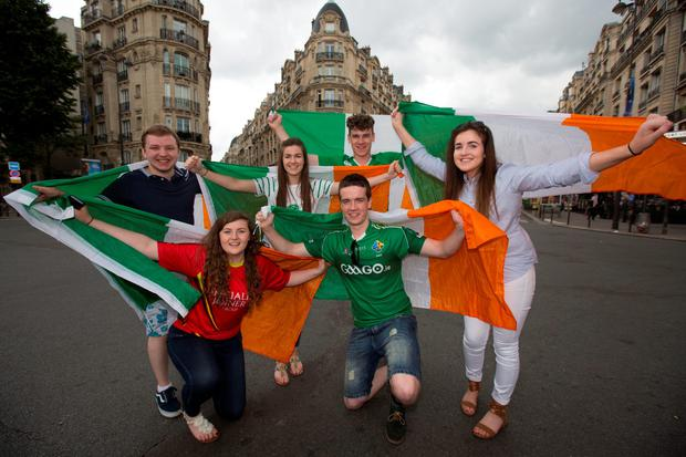 Irish supporters in Paris