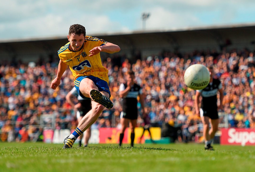 Roscommon's Ciaran Murtagh scores his side's third goal of the game. Photo: Sportsfile