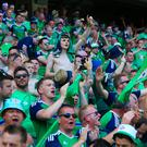 Northern Ireland fans during the UEFA EURO 2016 Group C match between Poland and Northern Ireland at Allianz Riviera Stadium on June 12, 2016 in Nice, France. (Photo by Catherine Ivill - AMA/Getty Images)