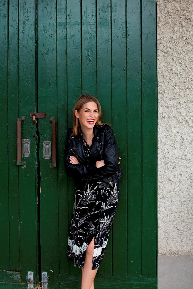 Amy Huberman photographed for Weekend by Naomi Gaffey