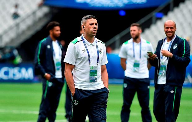 Jonathan Walters of Republic of Ireland prior to the UEFA Euro 2016 Group E match between Republic of Ireland and Sweden at Stade de France in Saint Denis, Paris, France. Photo by David Maher/Sportsfile