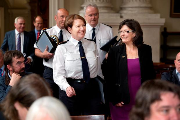 Garda Commissioner Norin O'Sullivan with authority chairperson Josephine Feehily. Photo: Tony Gavin