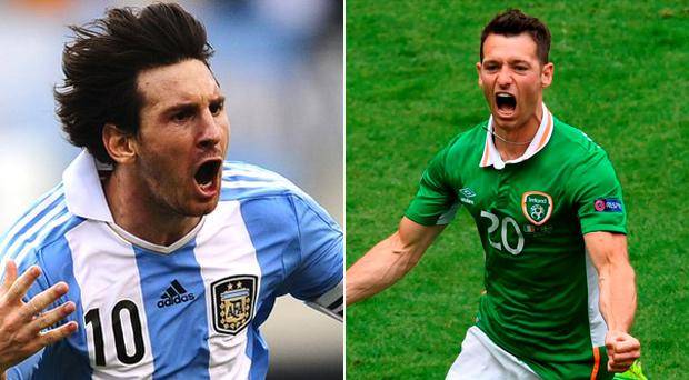 Wes Hoolahan has been compared to the great Lionel Messi after his performance today