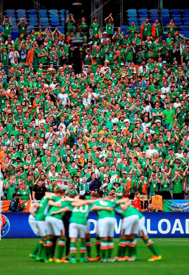 You'll never beat the Irish. Well, the fans anyway. Photo: PA