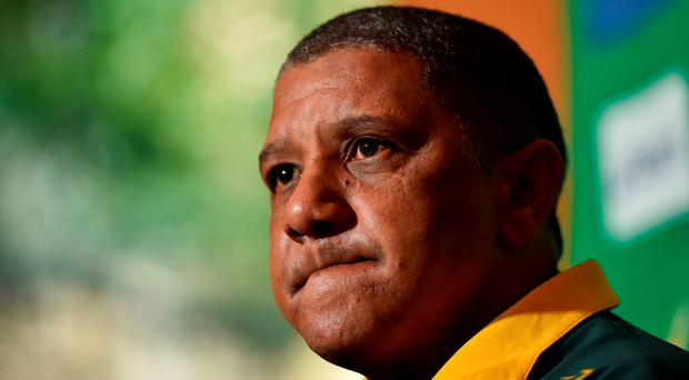 Allister Coetzee became the first South African coach since John Williams to lose his first game in charge. Photo by Brendan Moran/Sportsfile