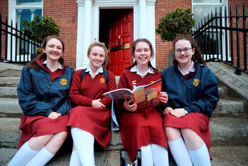Laura Lardner from Ballsbridge, Sinead Tobin from Templeogue, Rachael Mullally from Ballsbridge and Helen Brady from Rathfarnham. Photo: Caroline Quinn