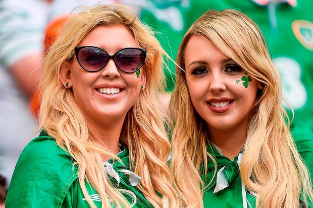 Republic of Ireland supporters ahead of kick-off. Photo by David Maher/Sportsfile