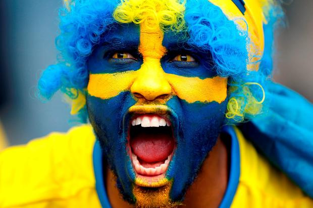 A Sweden supporter during the UEFA Euro 2016, Group E match at the Stade de France. Photo: PA