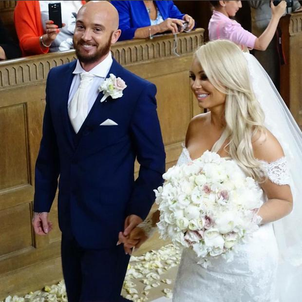 Jessica Lawlor and Stephen Ireland on their wedding day. Picture: Jessica Ireland/Instagram