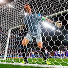 Italy's goalkeeper Gianluigi Buffon celebrates. REUTERS/Jason Cairnduff