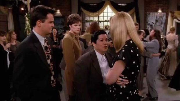 Lea DeLaria with Matthew Perry and Lisa Kudrow on Friends