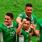 Wes Hoolahan scored a terrific goal in Ireland's 1-1 draw with Sweden yesterday