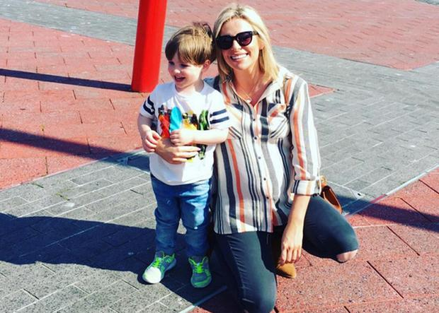 Pippa O'Connor with son Ollie
