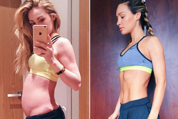 Model Maeve Madden shared this before and after photo on Instagram