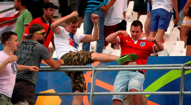Russia hooligans attacked England fans during the Euros last year