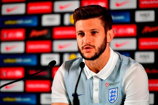 Adam Lallana of England speaks to the media during a press conference at Les Fontaines in Chantilly, France. (Photo by Dan Mullan/Getty Images)