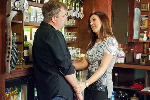 Coronation Street's Steve and Michelle.